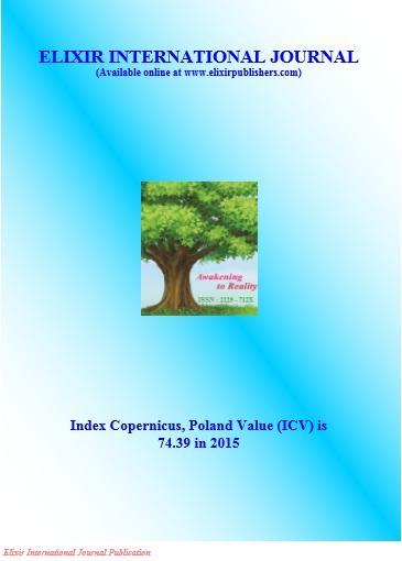 Elixir International Journal | ICI Journals Master List