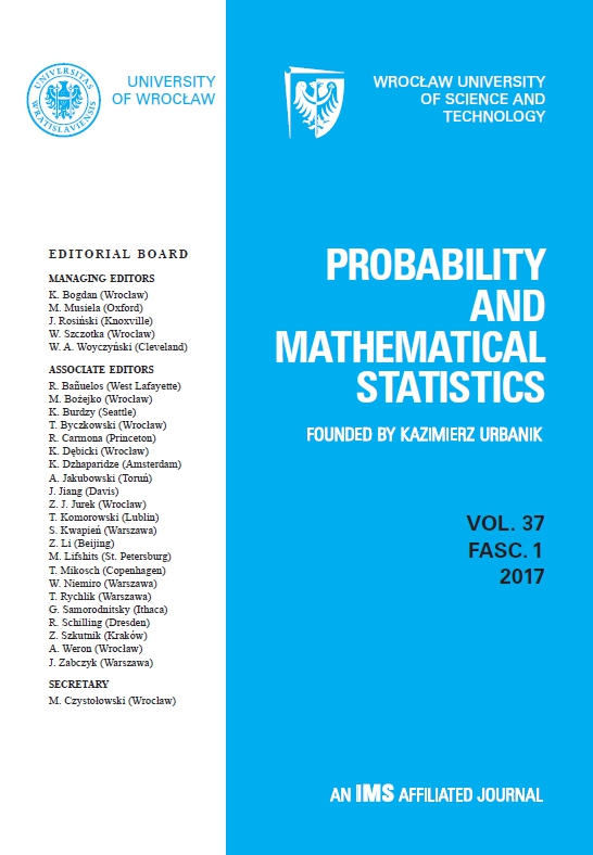 Probability and Mathematical Statistics | ICI Journals