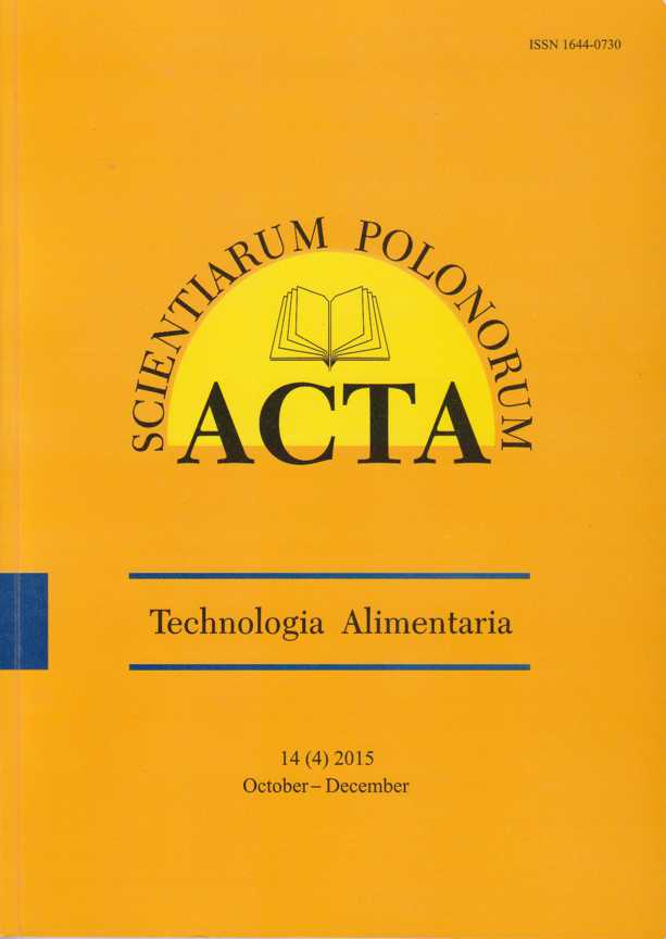 Image result for Acta Scientiarum Polonorum Technologia Alimentaria