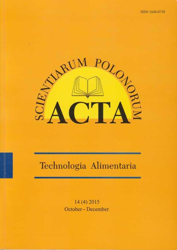 Image result for Acta Scientiarum Polonorum Technologia Alimentaria