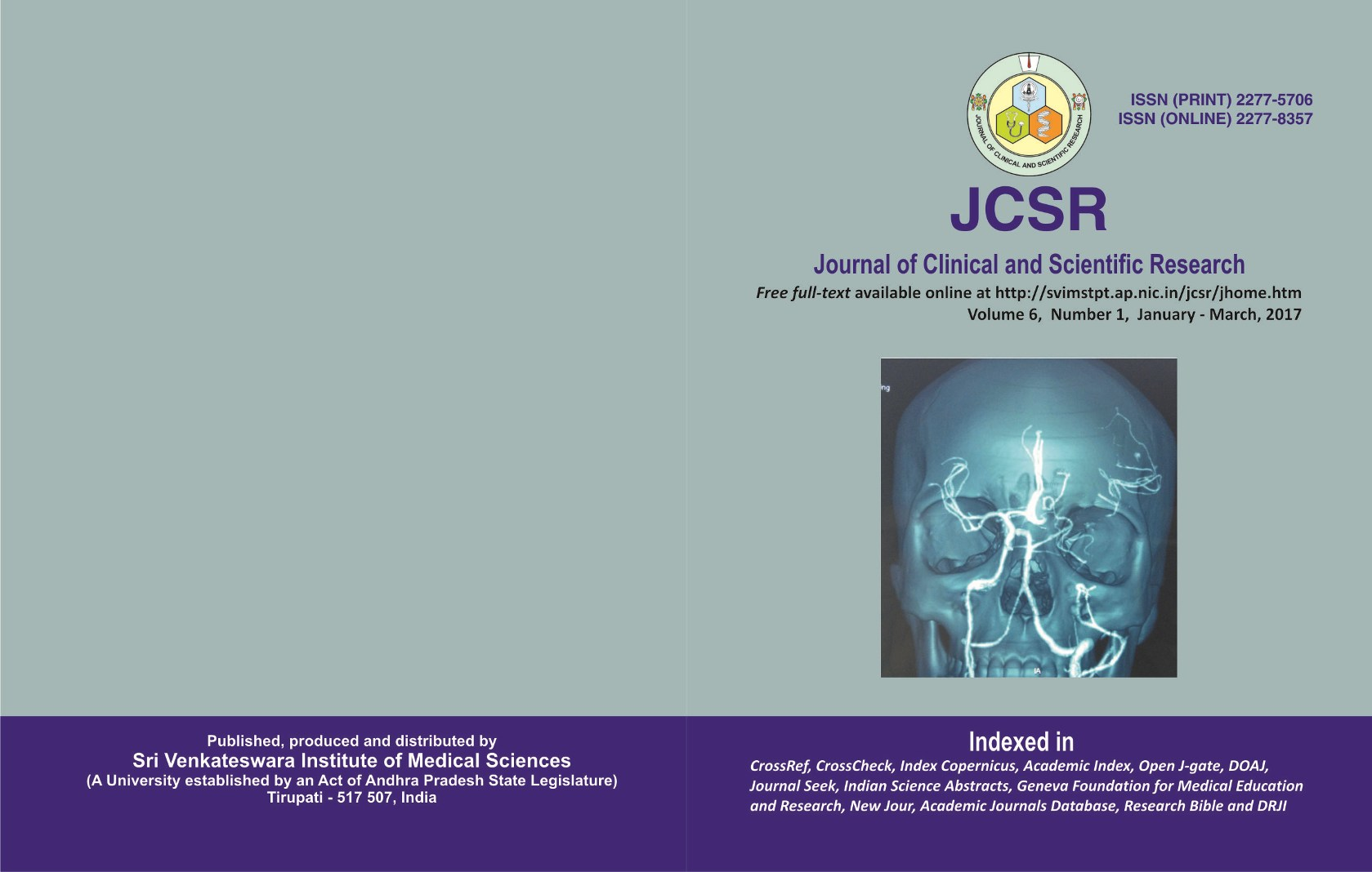 Journal of Clinical and Scientific Research   ICI Journals