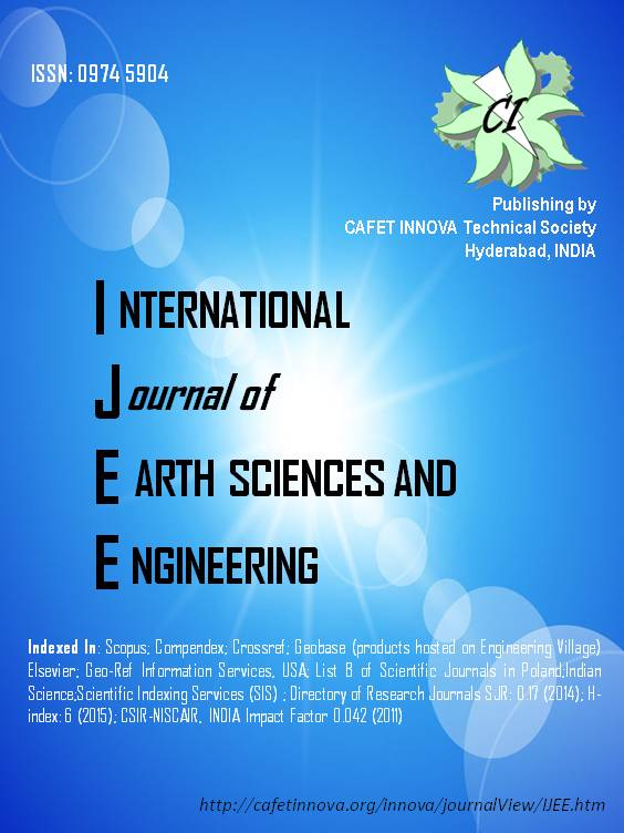 INTERNATIONAL JOURNAL OF EARTH SCIENCES AND ENGINEERING