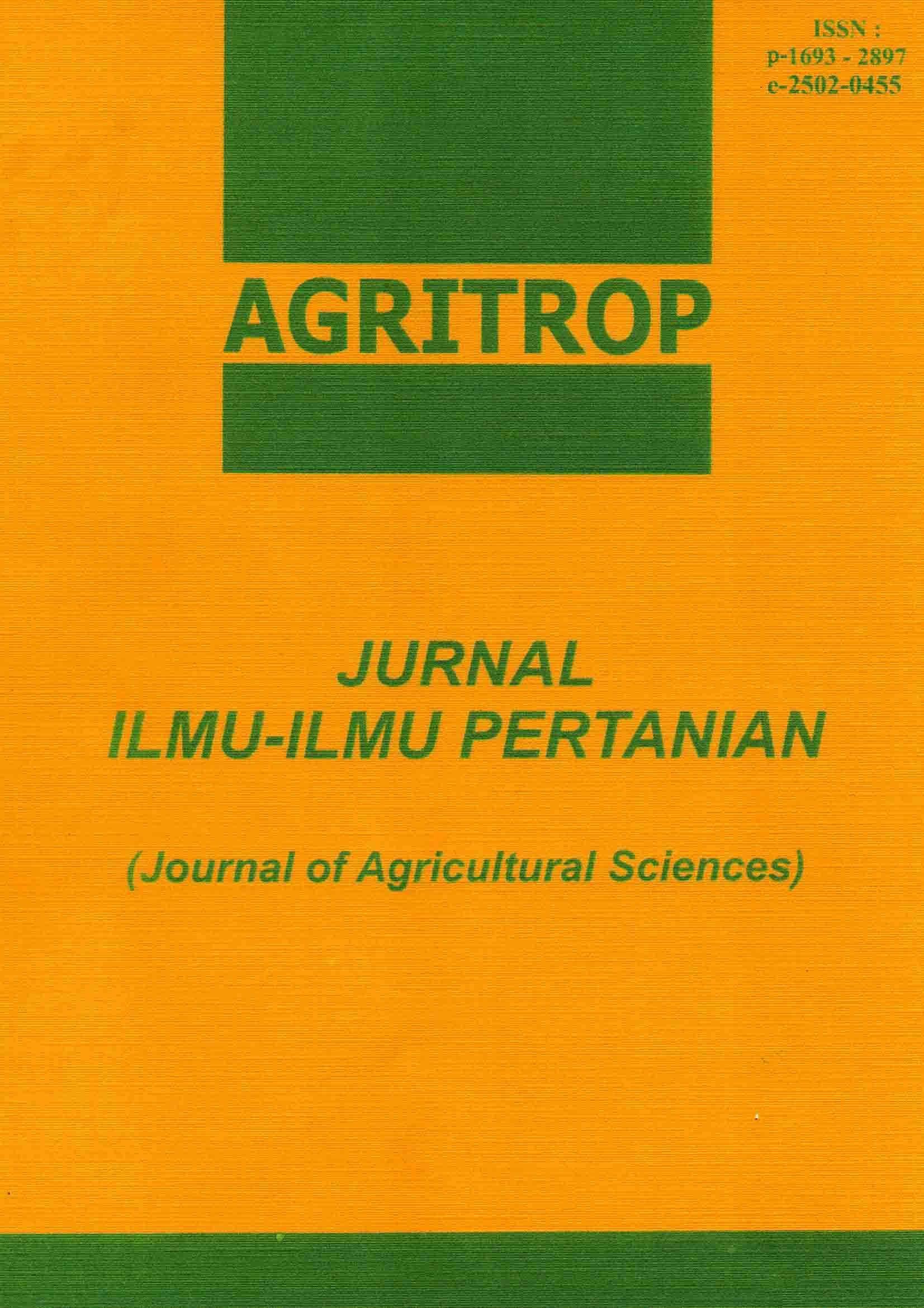 Agritrop: Journal of Agricultural Sciences (Journal of