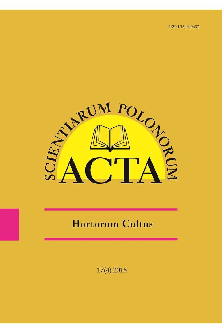 Acta Scientiarum Polonorum Horticulture | ICI Journals
