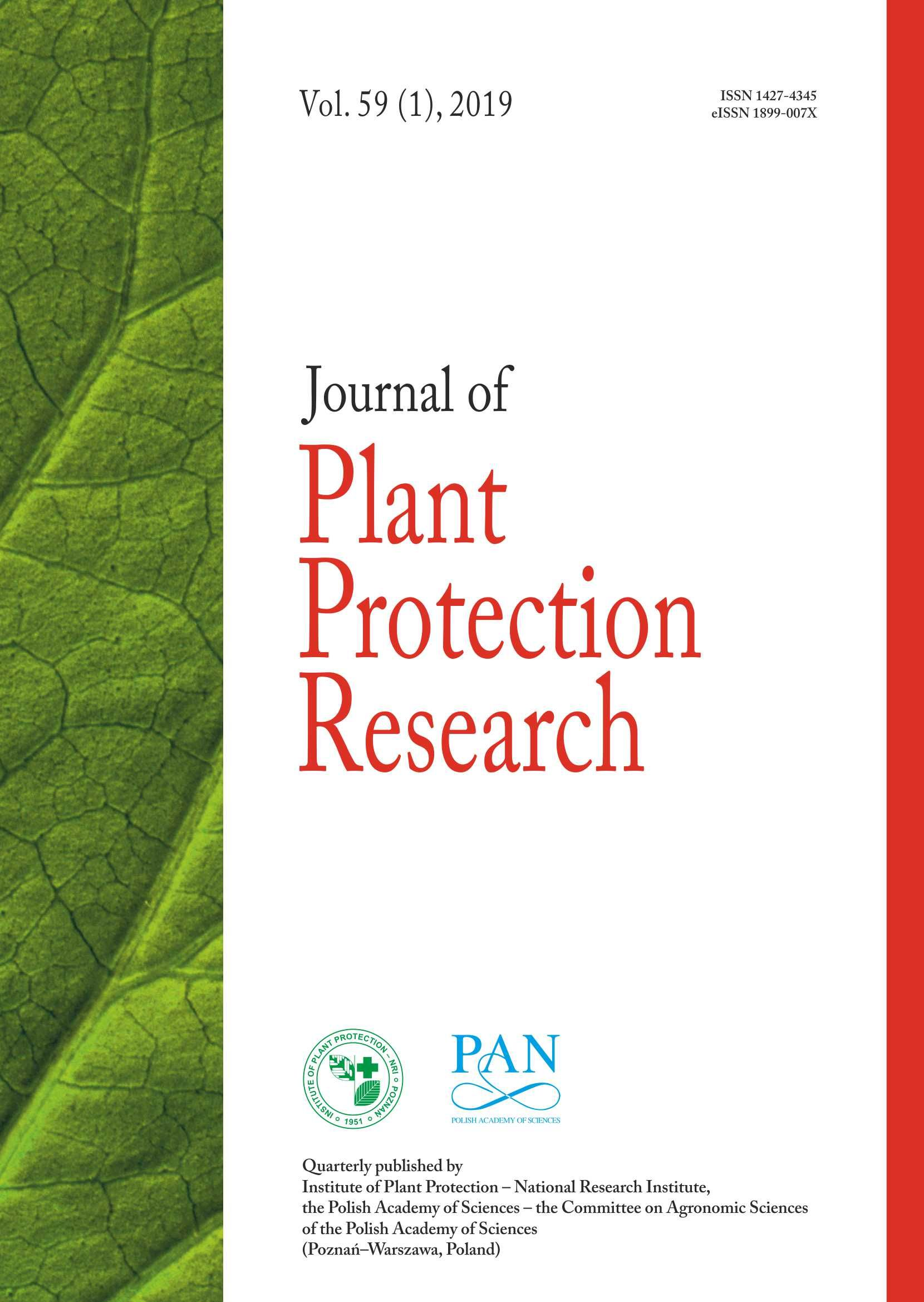 Journal of Plant Protection Research | ICI Journals Master List