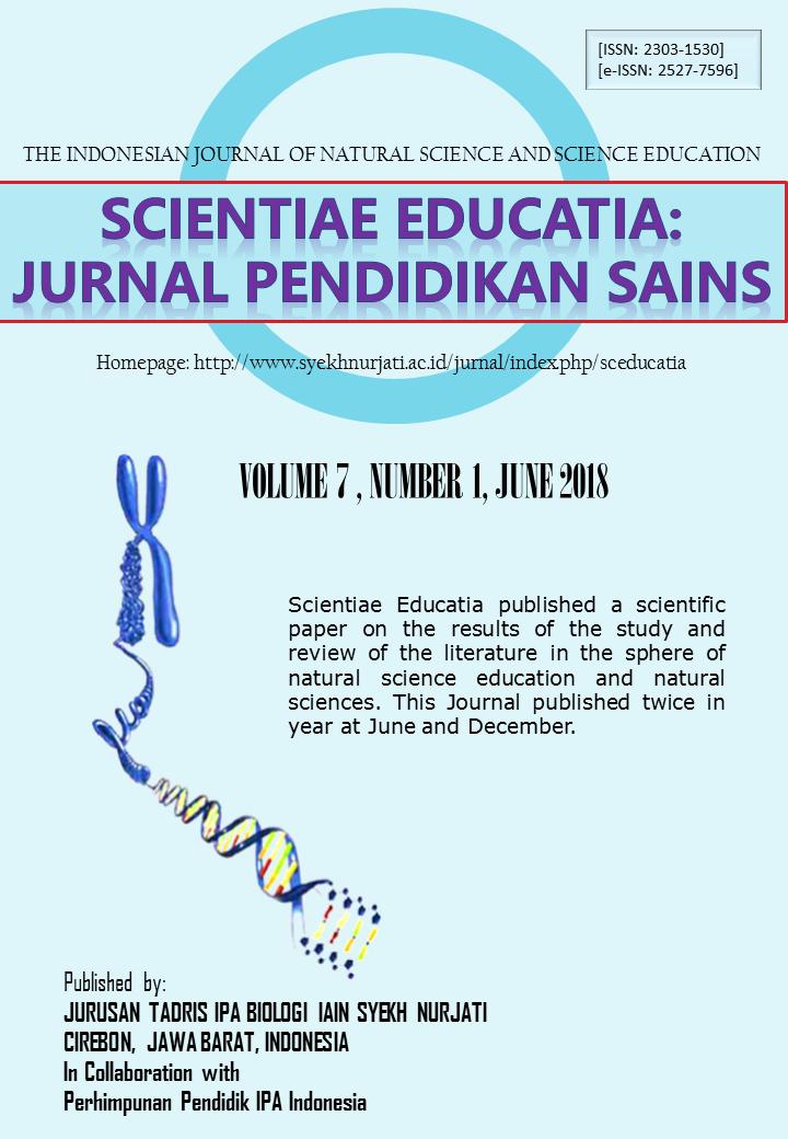 Scientiae Educatia: Natural Science Education | ICI Journals