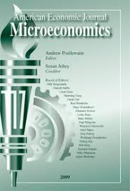American Economic Journal: Microeconomics cover