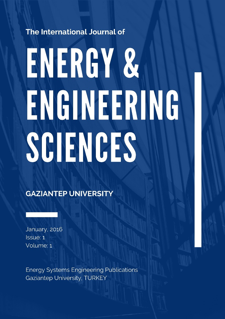 The International Journal Of Energy Engineering Sciences Ici Journals M